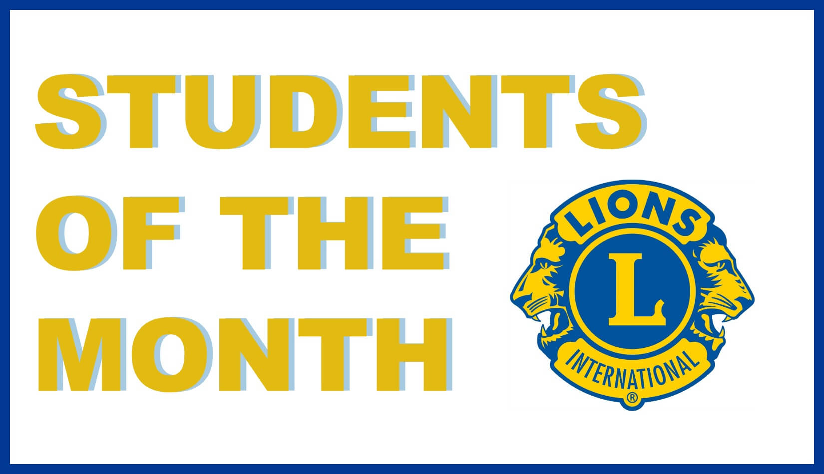 Janesville Lions Club - Students of the Month